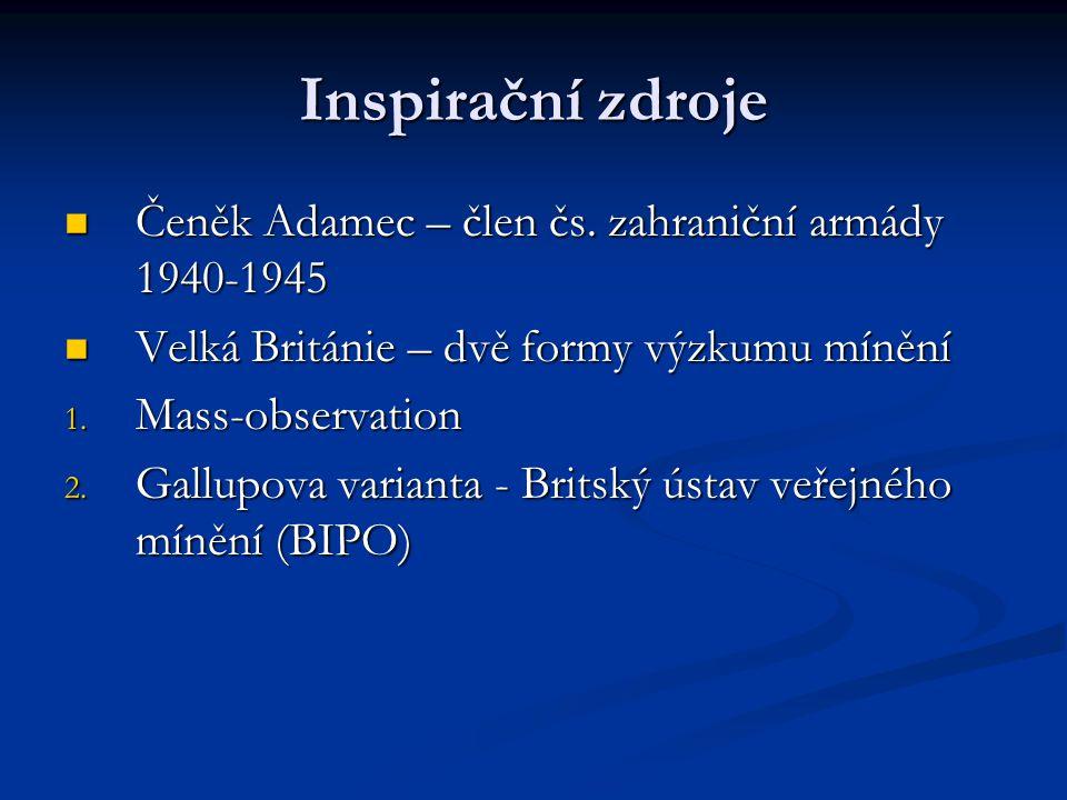 Inspirační zdroje Čeněk Adamec – člen čs. zahraniční armády 1940-1945