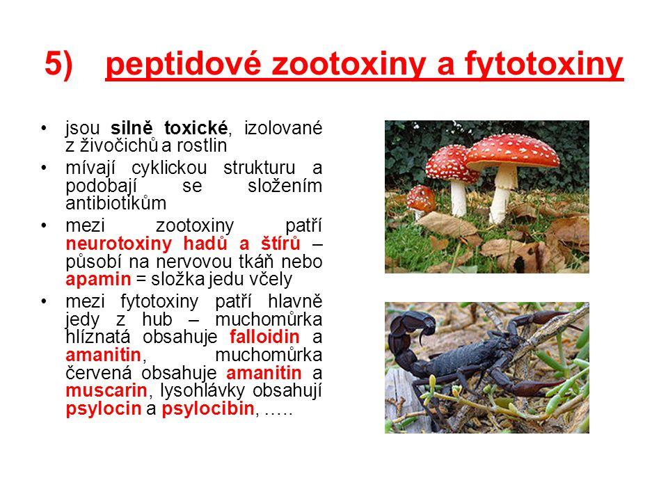 peptidové zootoxiny a fytotoxiny