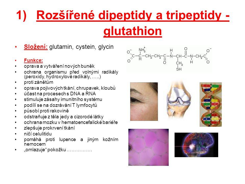 Rozšířené dipeptidy a tripeptidy - glutathion