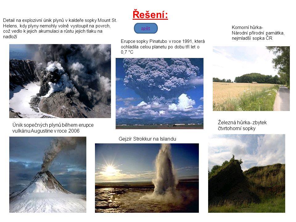 Řešení: zpět Železná hůrka- zbytek Únik sopečných plynů během erupce