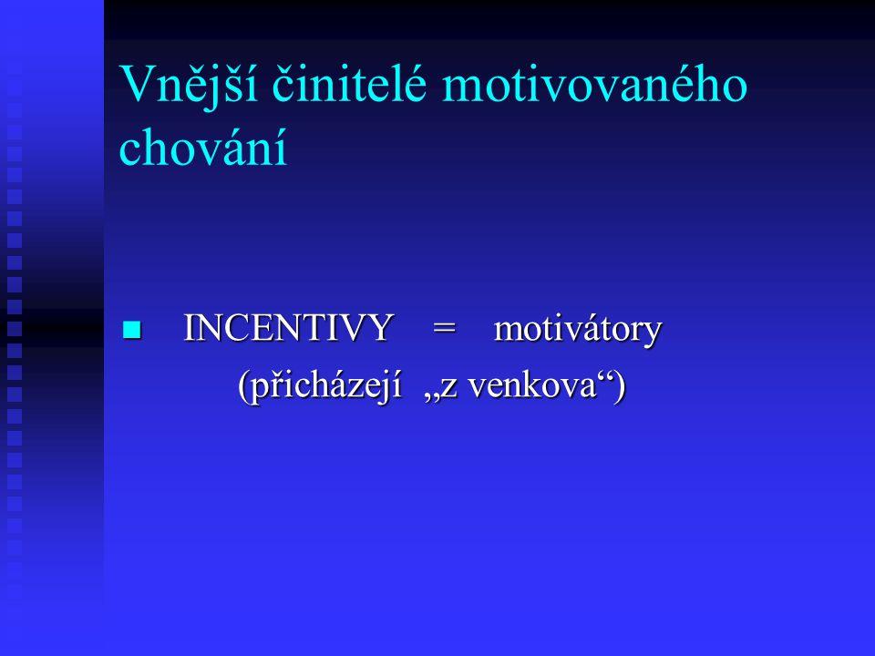 Vnější činitelé motivovaného chování
