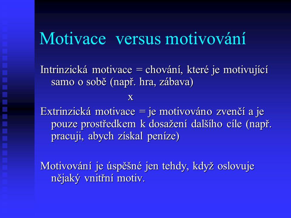Motivace versus motivování