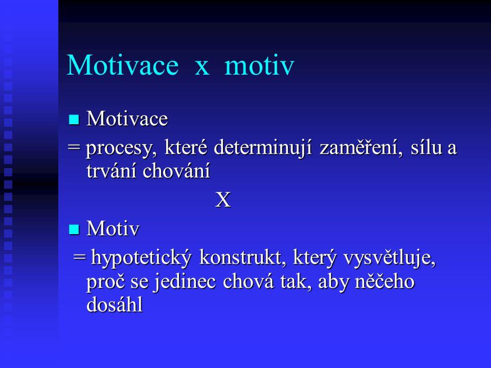 Motivace x motiv Motivace
