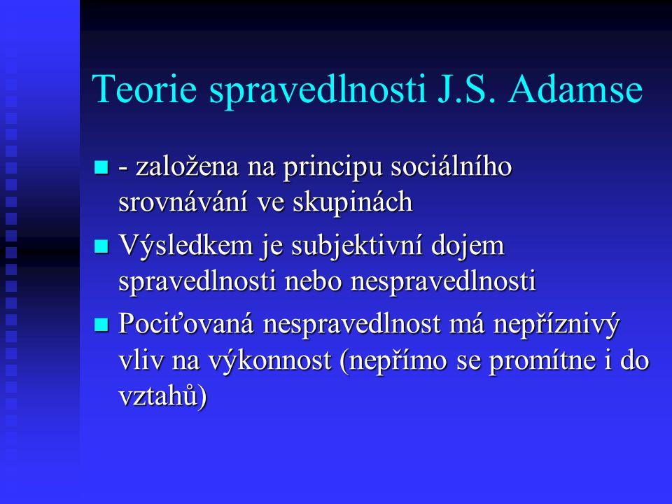 Teorie spravedlnosti J.S. Adamse