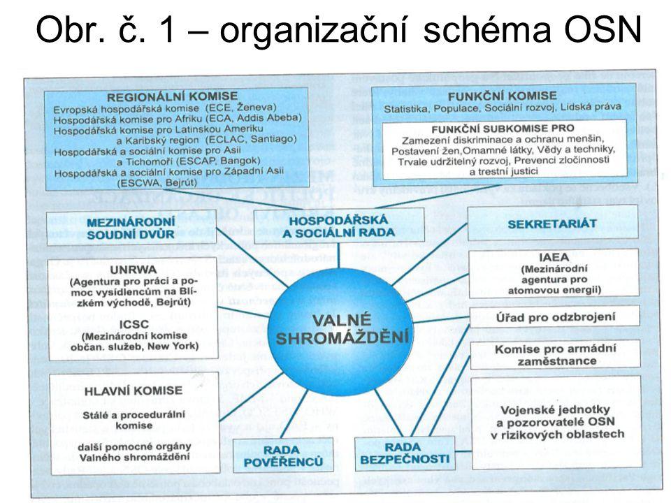 Obr. č. 1 – organizační schéma OSN