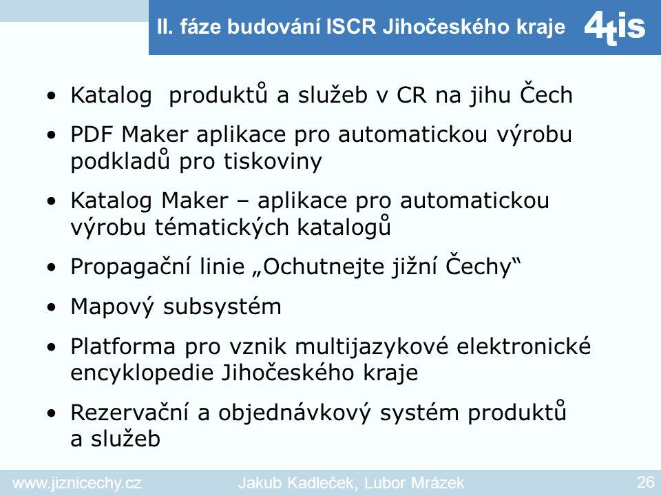 Katalog produktů a služeb v CR na jihu Čech