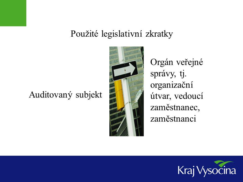 Použité legislativní zkratky
