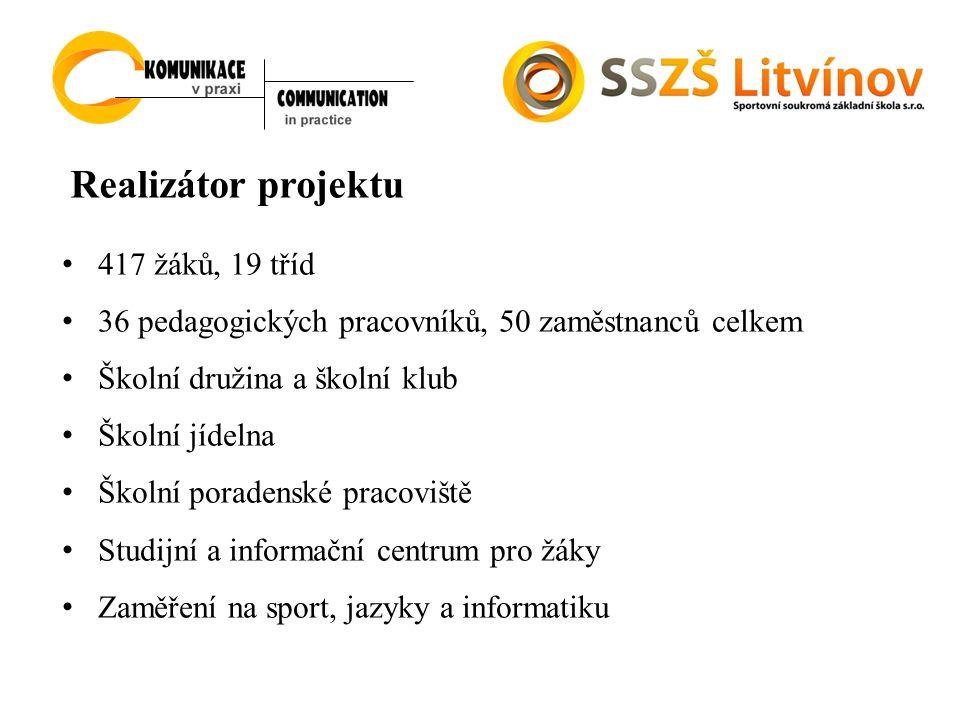 Realizátor projektu 417 žáků, 19 tříd