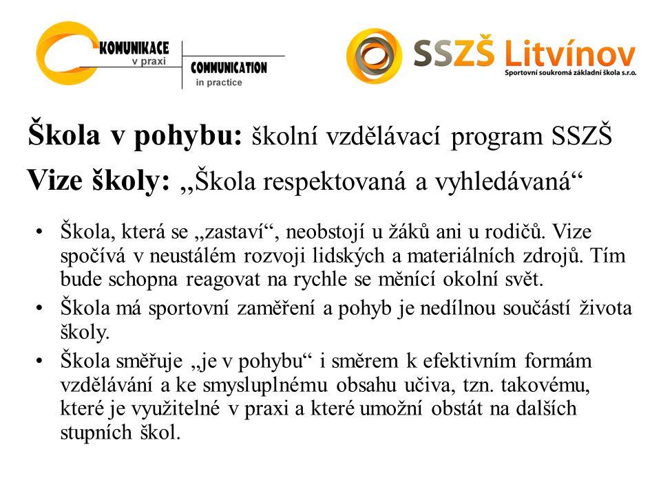 Škola v pohybu: školní vzdělávací program SSZŠ