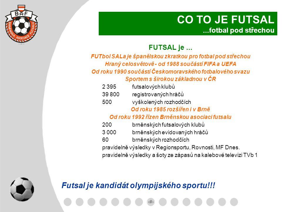 CO TO JE FUTSAL ...fotbal pod střechou