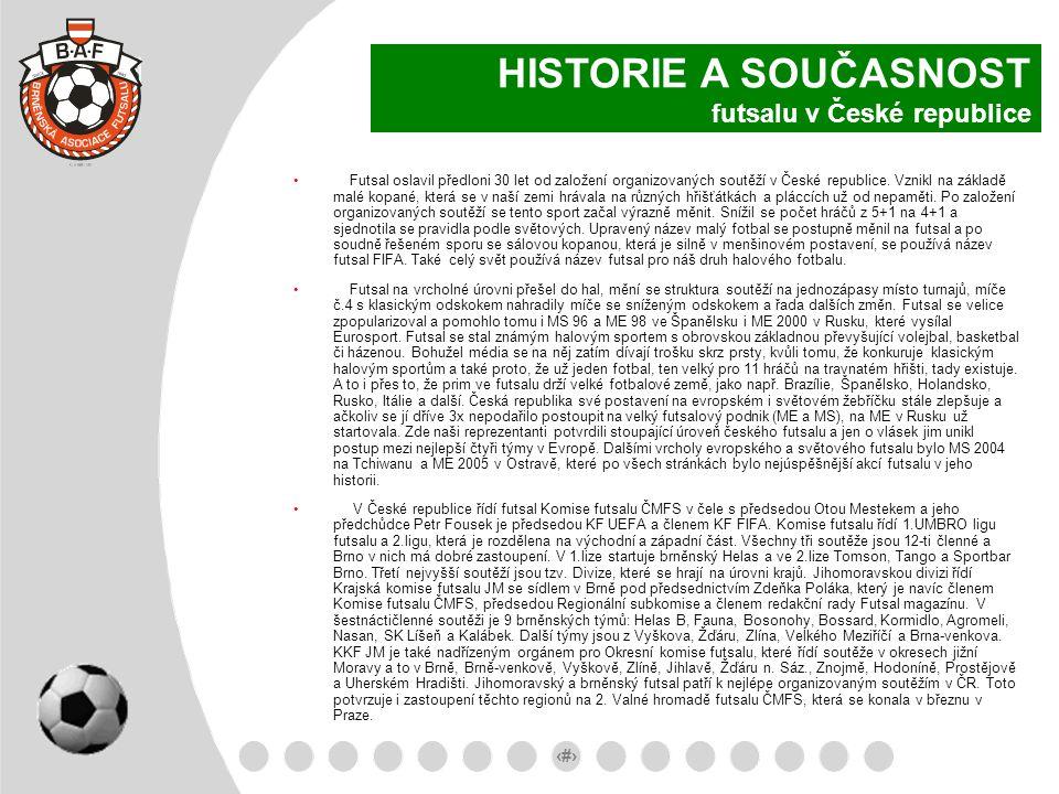 HISTORIE A SOUČASNOST futsalu v České republice