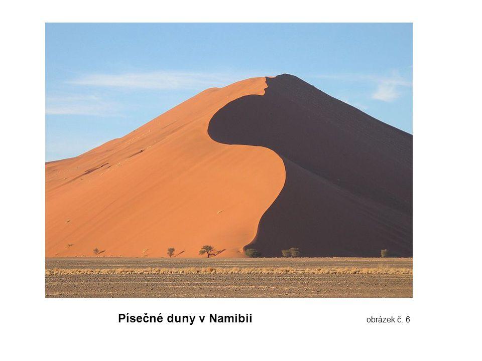 Písečné duny v Namibii obrázek č. 6