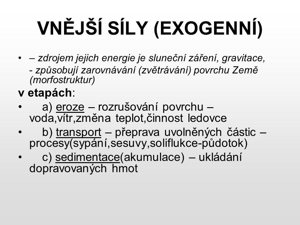 VNĚJŠÍ SÍLY (EXOGENNÍ)