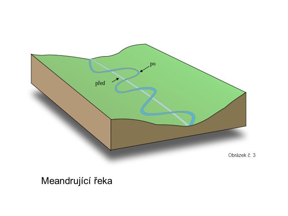 Obrázek č. 3 Meandrující řeka
