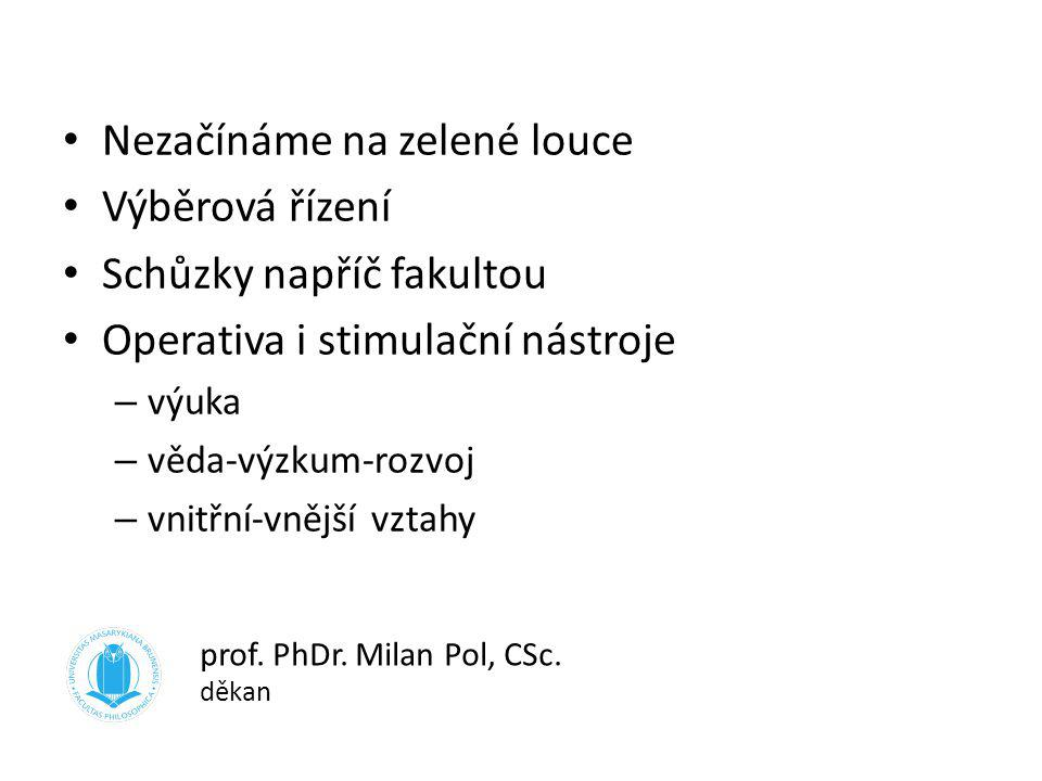 prof. PhDr. Milan Pol, CSc. děkan