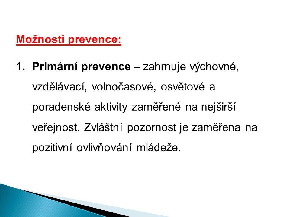 Možnosti prevence: