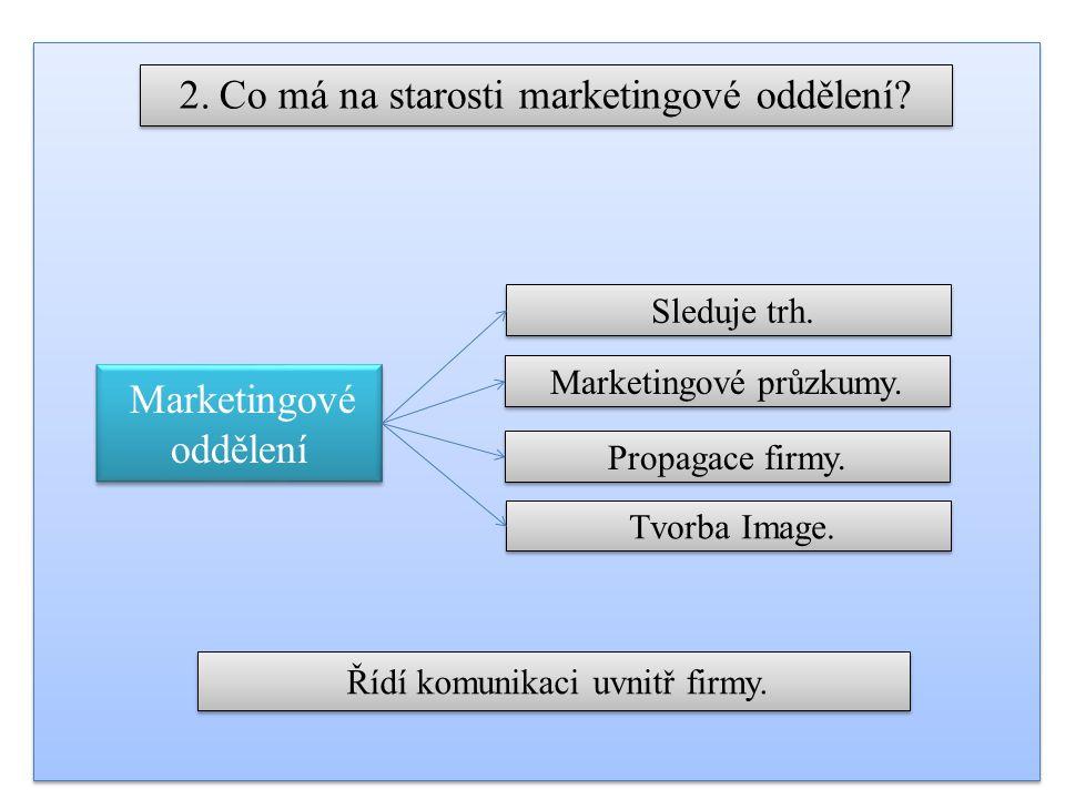 2. Co má na starosti marketingové oddělení