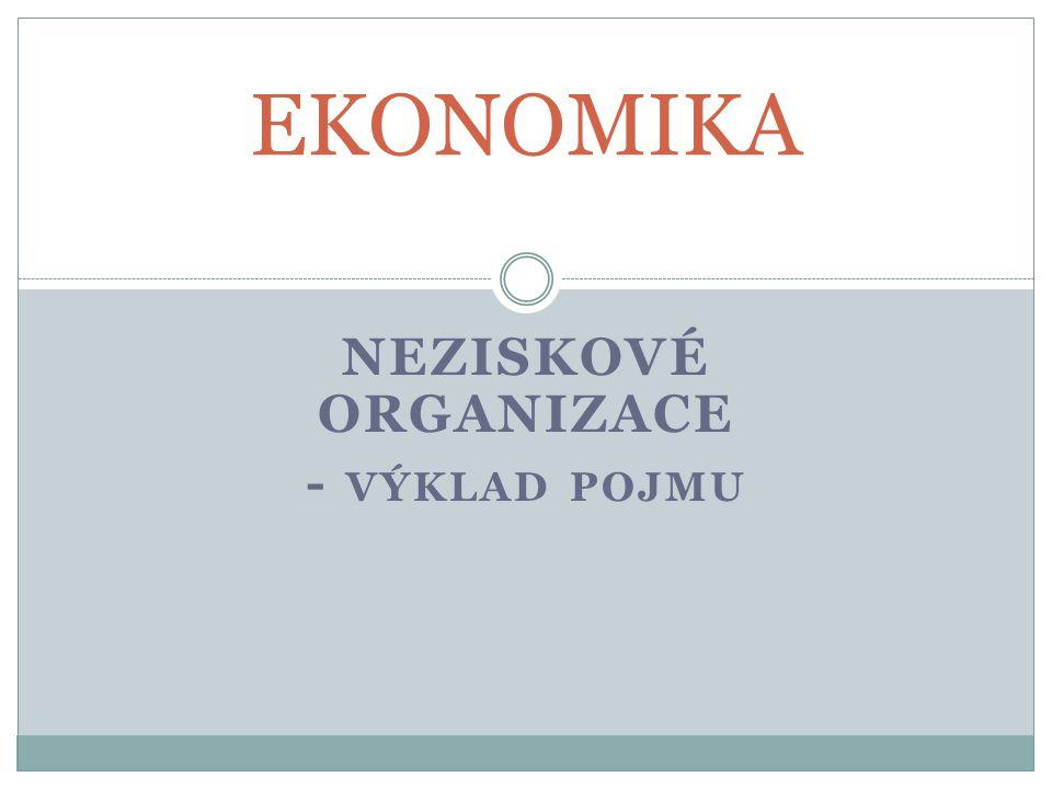 Neziskové organizace - výklad pojmu