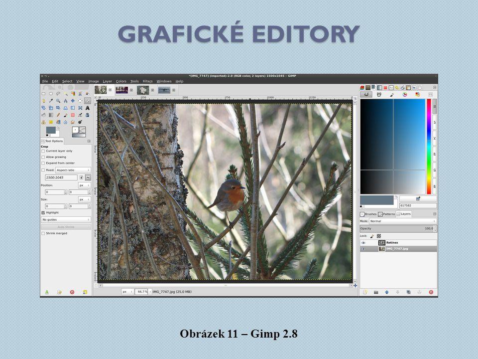 grafické editory Obrázek 11 – Gimp 2.8