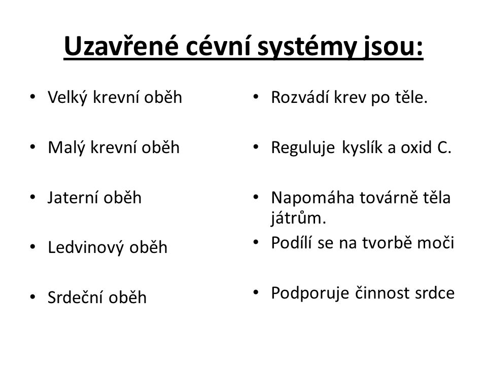 Uzavřené cévní systémy jsou: