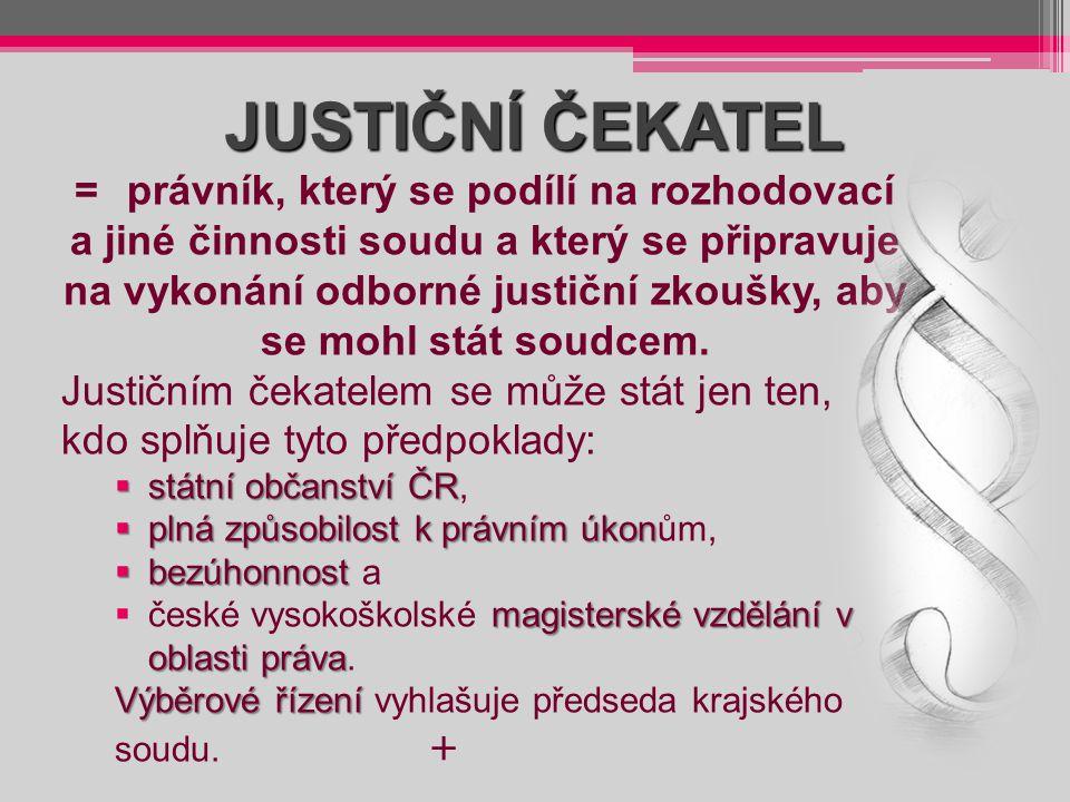 JUSTIČNÍ ČEKATEL