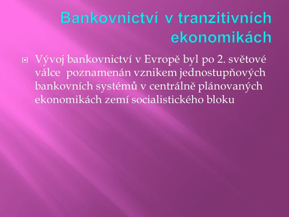 Bankovnictví v tranzitivních ekonomikách