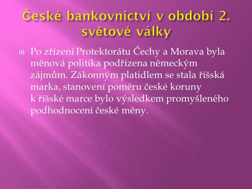 České bankovnictví v období 2. světové války