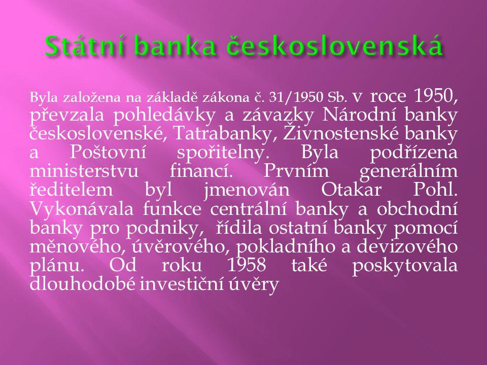 Státní banka československá
