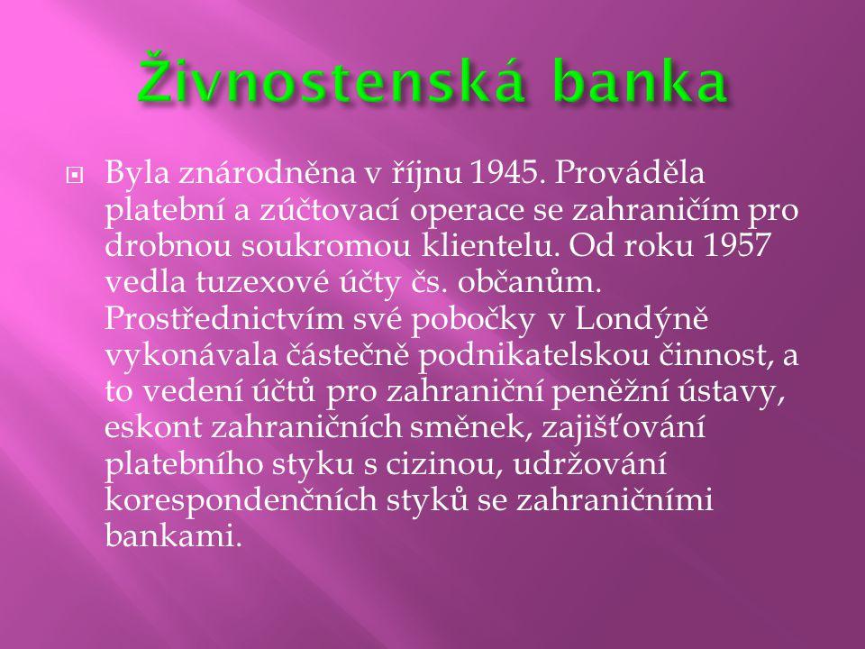 Živnostenská banka