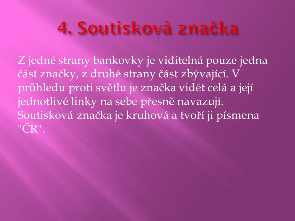 4. Soutisková značka