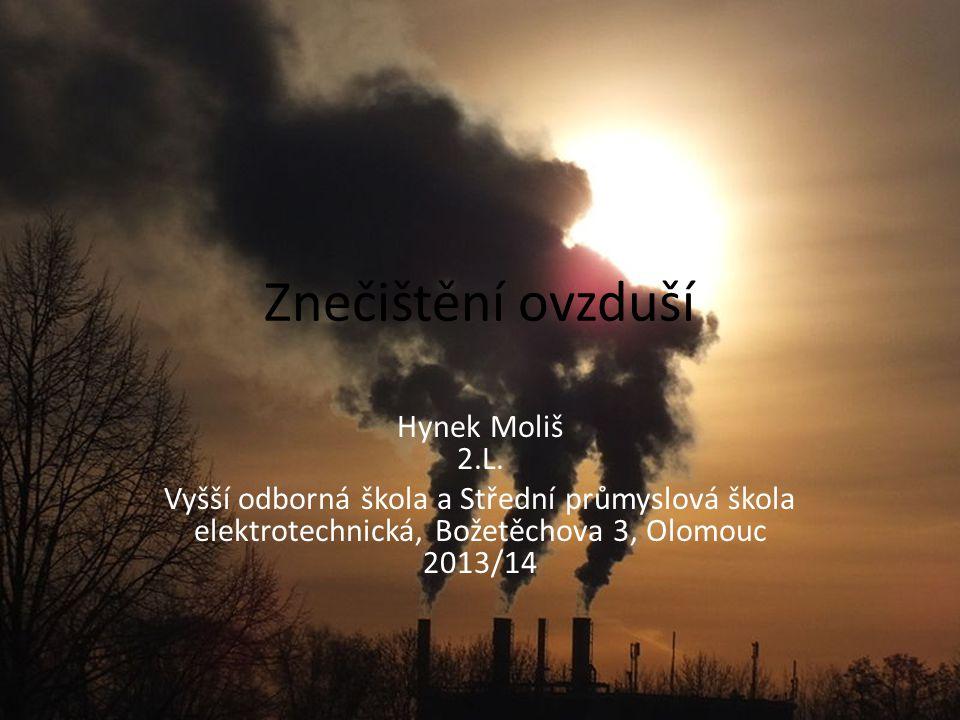 Znečištění ovzduší Hynek Moliš 2.L.