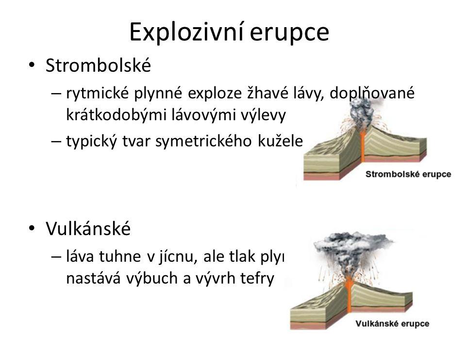 Explozivní erupce Strombolské Vulkánské