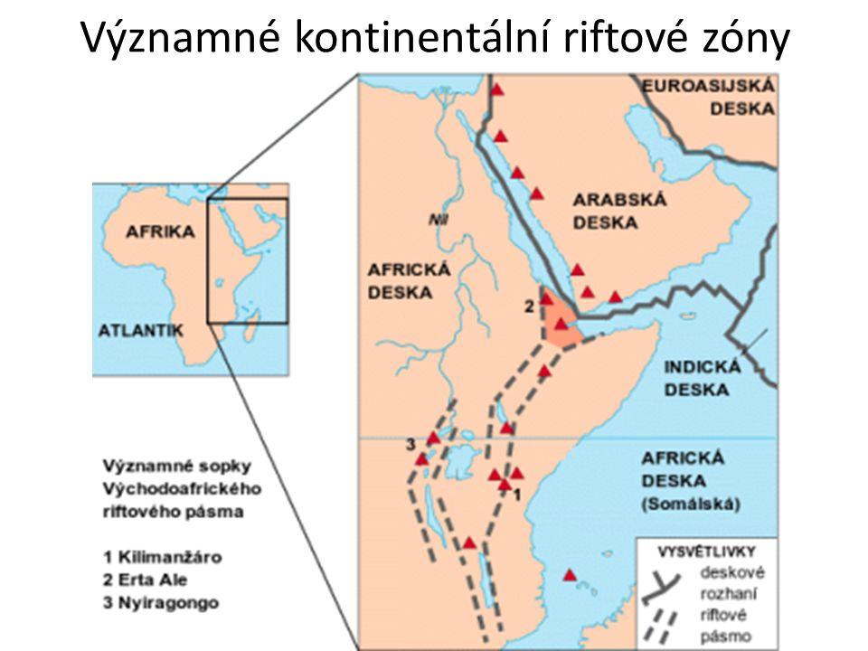 Významné kontinentální riftové zóny