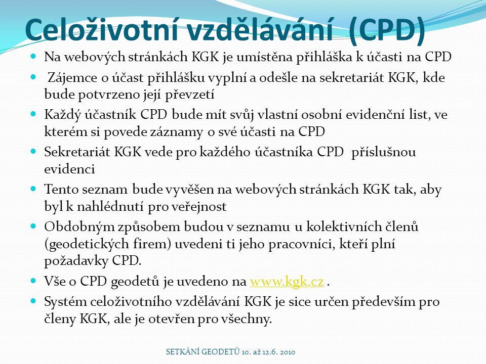 Celoživotní vzdělávání (CPD)