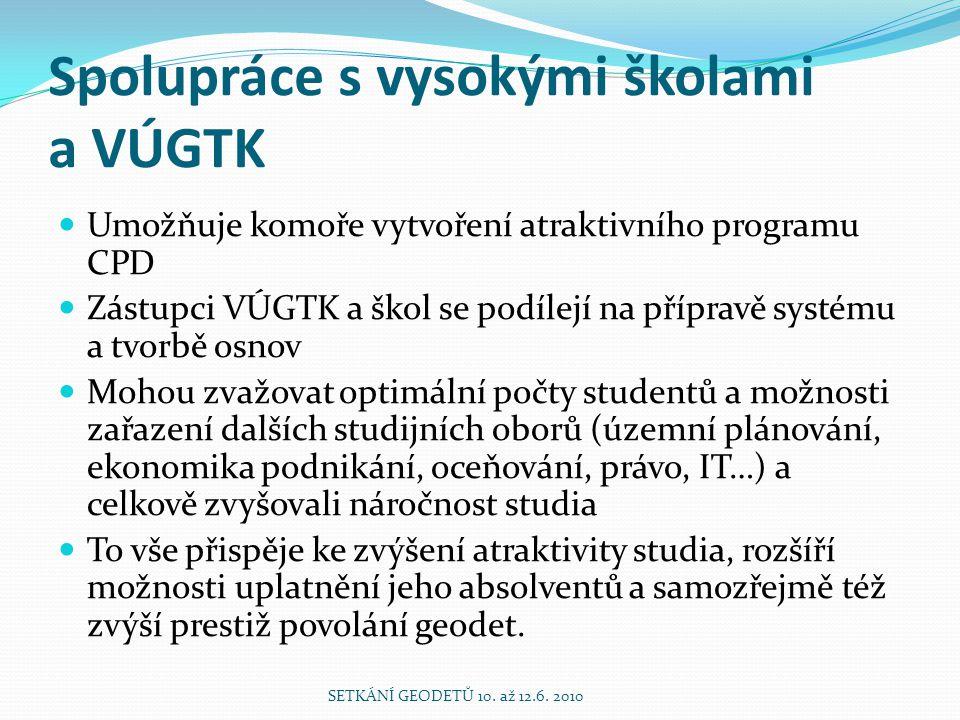 Spolupráce s vysokými školami a VÚGTK