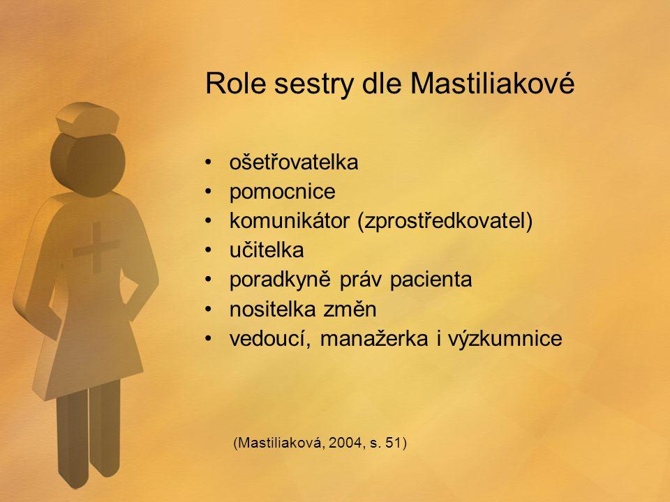 Role sestry dle Mastiliakové