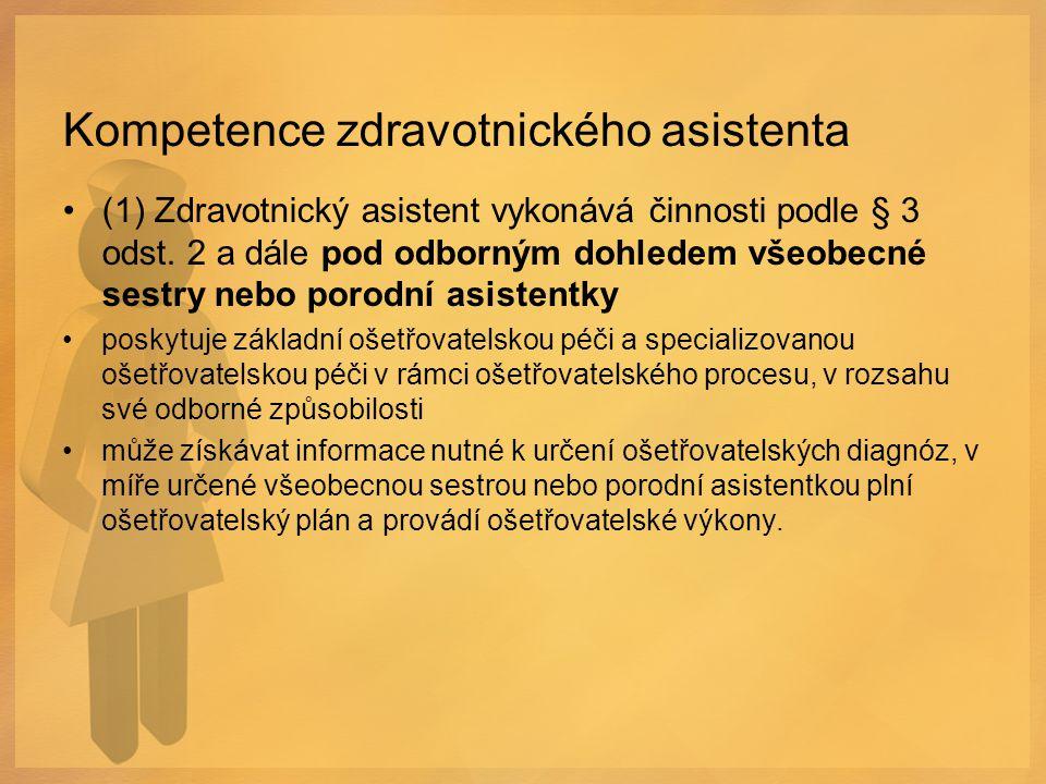 Kompetence zdravotnického asistenta