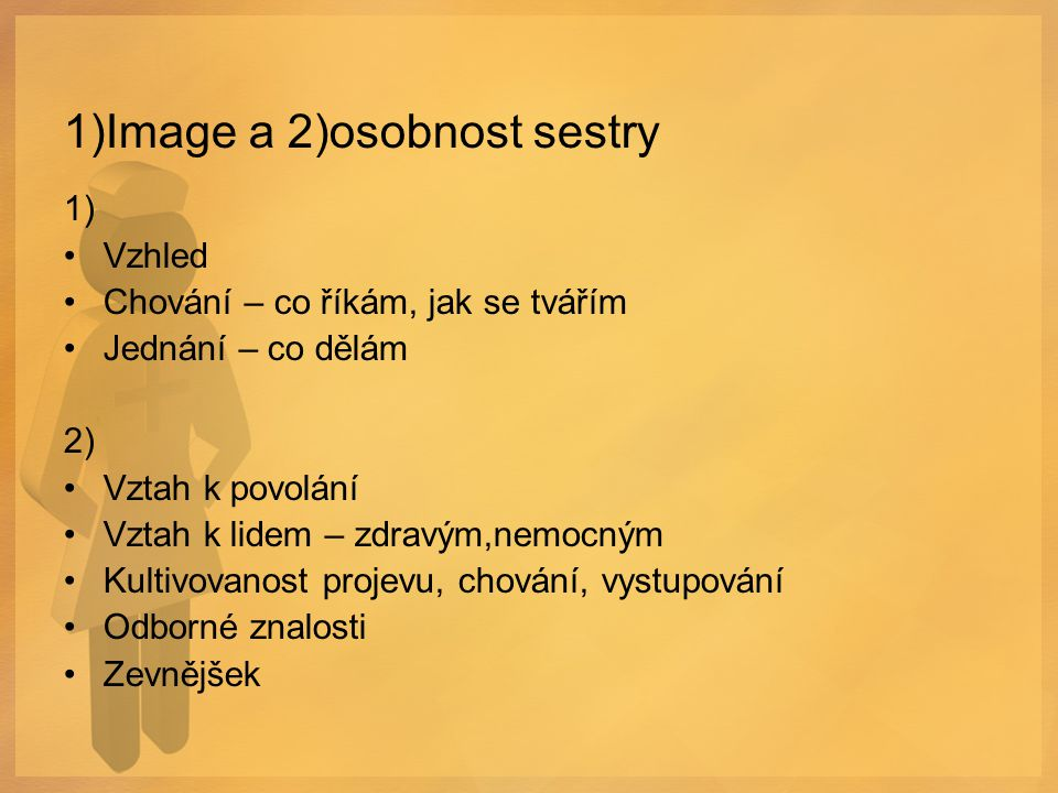 1)Image a 2)osobnost sestry