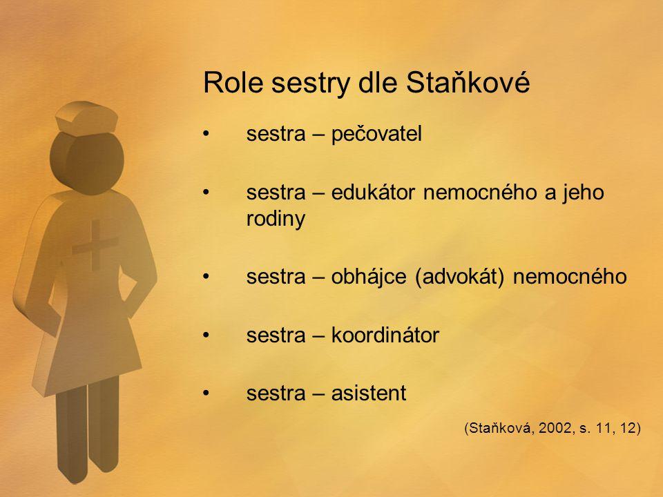 Role sestry dle Staňkové