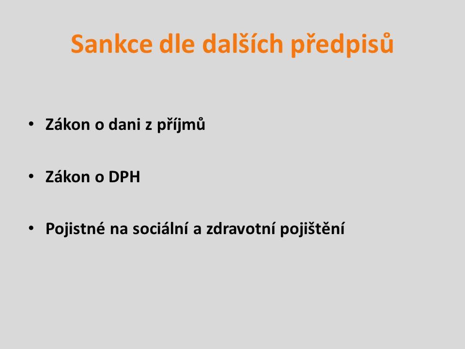 Sankce dle dalších předpisů