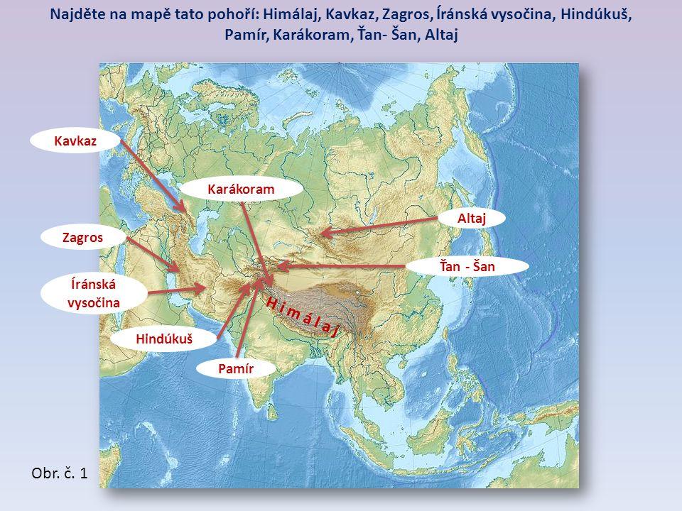 Pamír, Karákoram, Ťan- Šan, Altaj