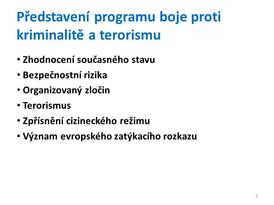 Představení programu boje proti kriminalitě a terorismu