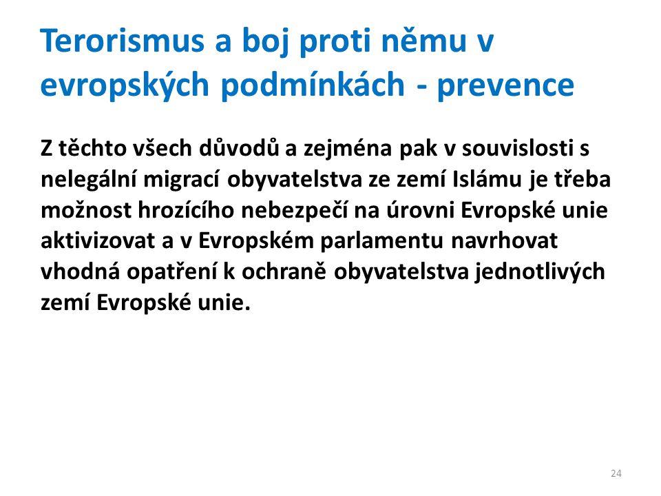Terorismus a boj proti němu v evropských podmínkách - prevence