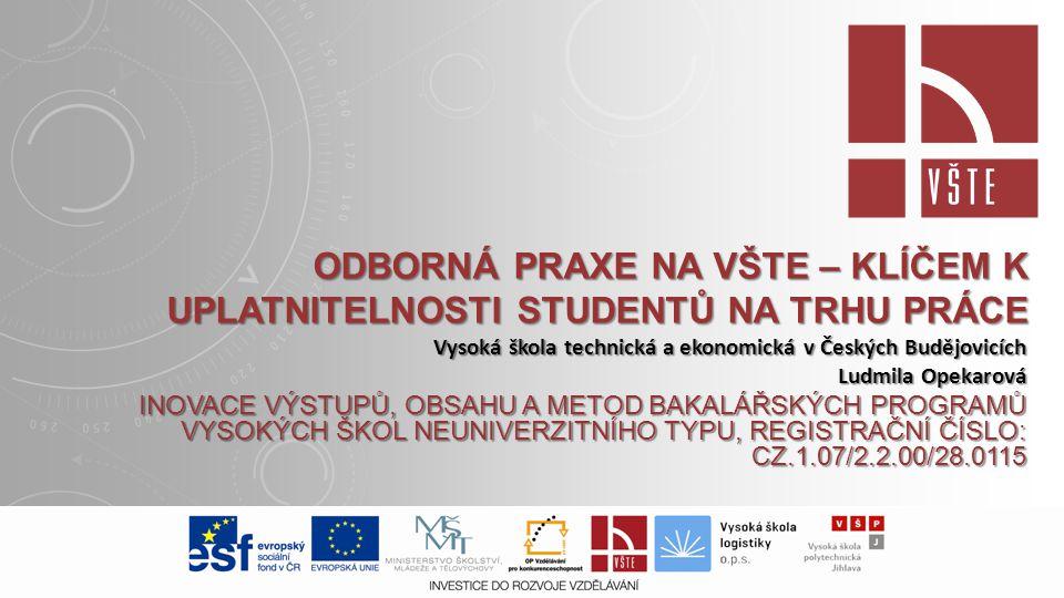 Odborná praxe na VŠTE – klíčem k uplatnitelnosti studentů na trhu práce