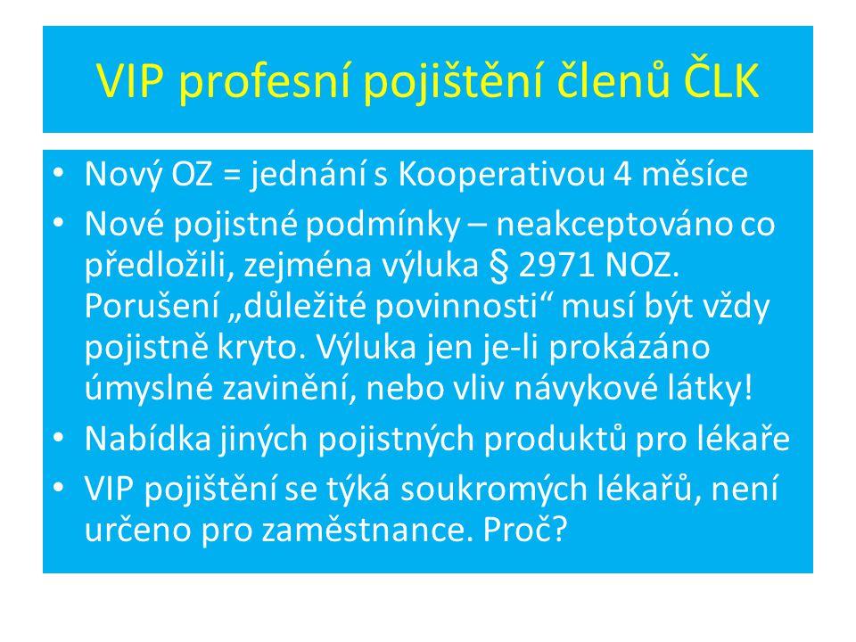 VIP profesní pojištění členů ČLK