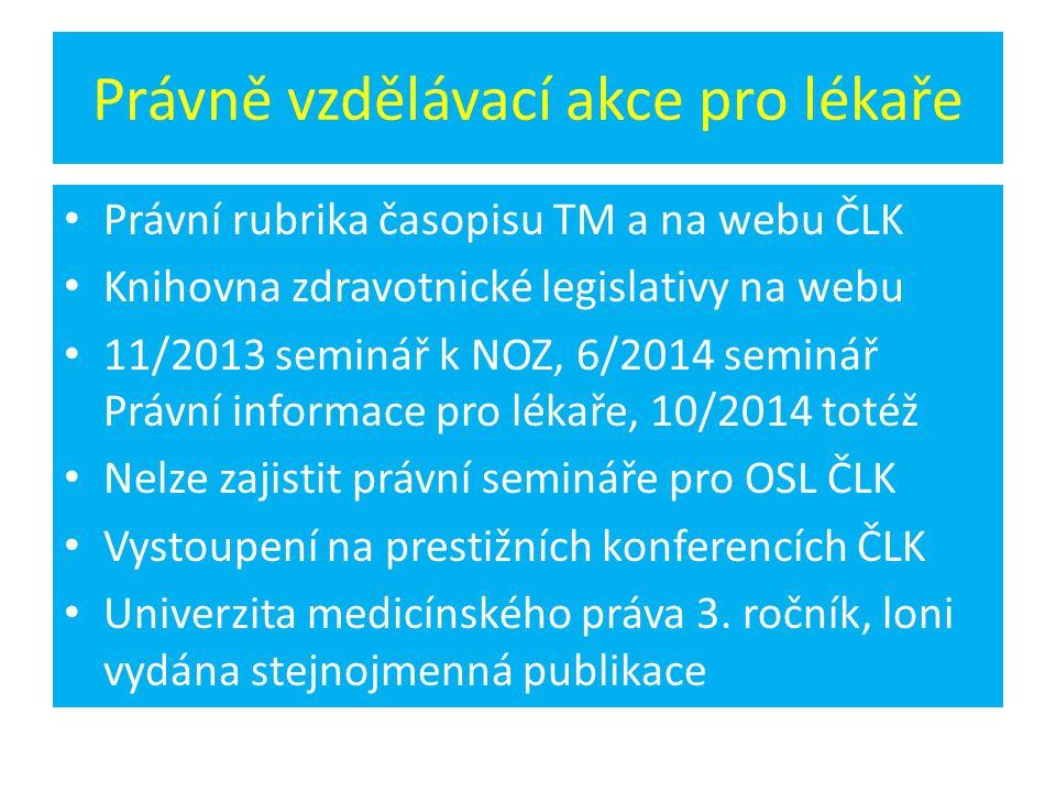 Právně vzdělávací akce pro lékaře
