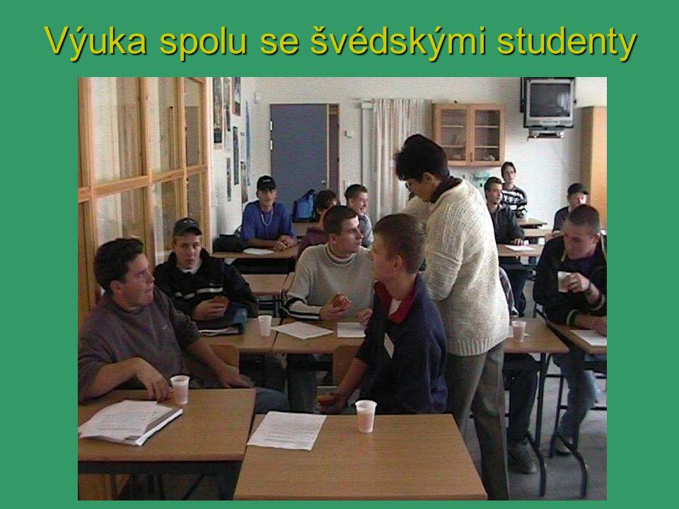 Výuka spolu se švédskými studenty