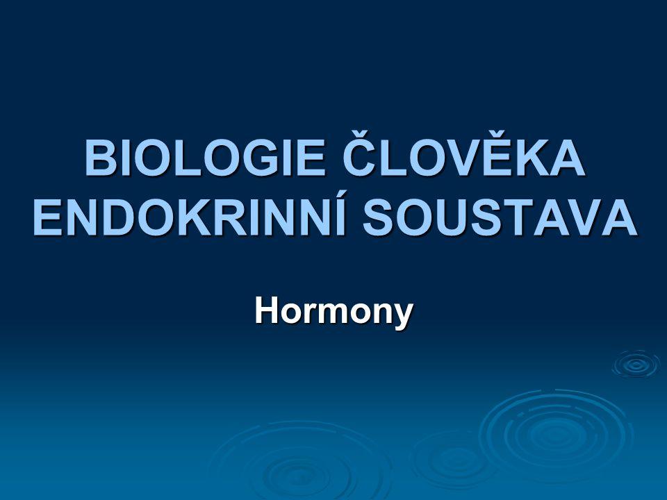 BIOLOGIE ČLOVĚKA ENDOKRINNÍ SOUSTAVA