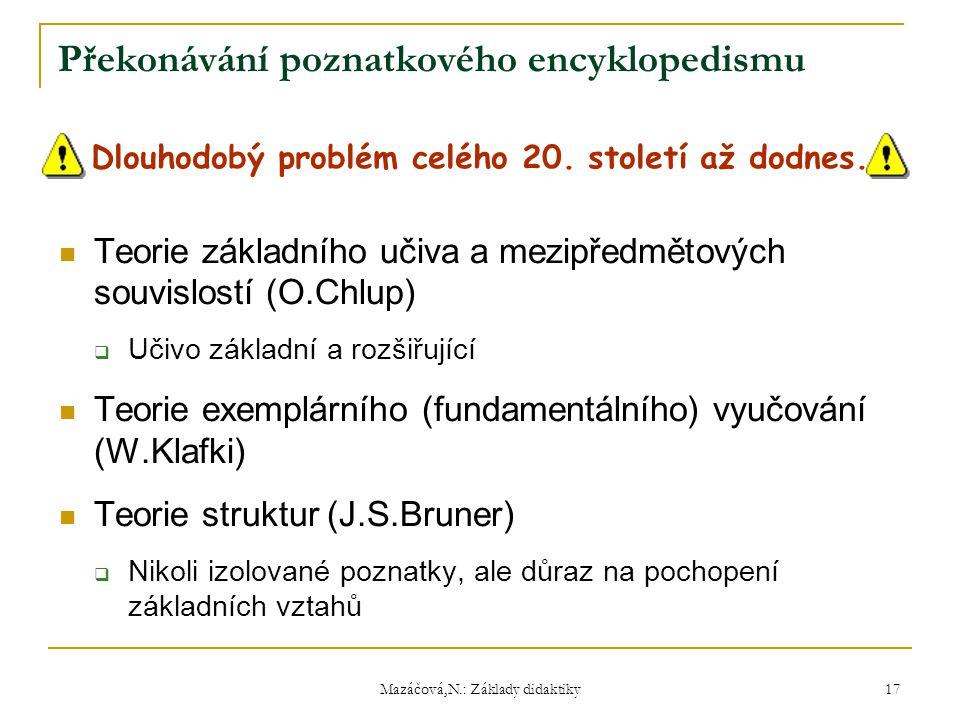 Překonávání poznatkového encyklopedismu