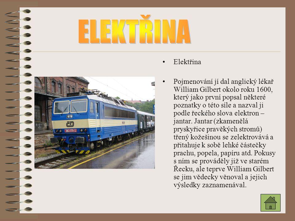 ELEKTŘINA Elektřina.